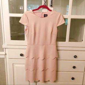Vince Camuto Pink Tiered Dress